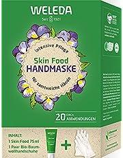 WELEDA Skin Food handmasker presentset 2021 – naturkosmetik presentset bestående av hud Food hudkräm och handskar av ekologisk bomull för intensiv vård av torr och stressad hud