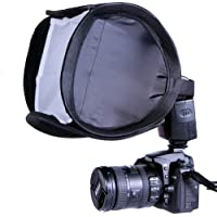 CowboyStudio 9-Inch Portable Quick Setup Speedlite Softbox with Velcro Strap for Nikon Canon Flash Light (Black)