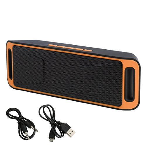 hibyebuying Portable Wireless Boombox Stereo Bluetooth Speaker for Samsung Tablet PC iPhone