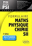 Formulaire Maths Physique Chimie SII MPSI PCSI PTSI PSI