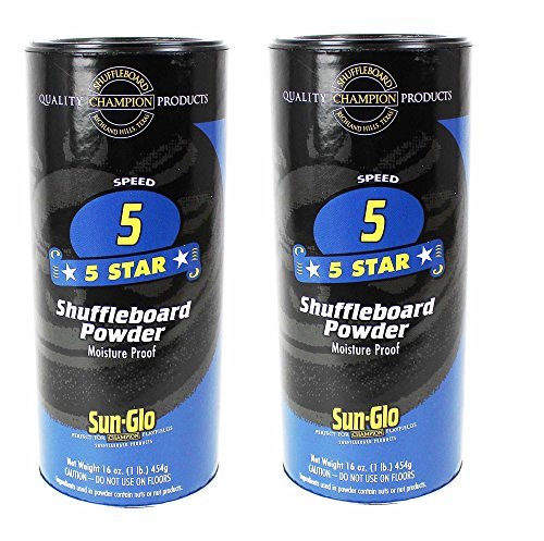 Sun-Glo #5 Shuffleboard Powder Wax (16 oz.) (Pack of 2) (22 Ft Shuffleboard Table)