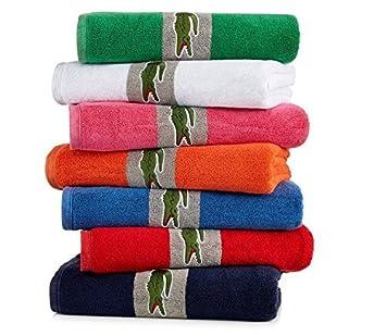 Cocodrilo de la firma Lacoste Orangeade toalla de baño (30 x 54) t14913r2763054: Amazon.es: Hogar