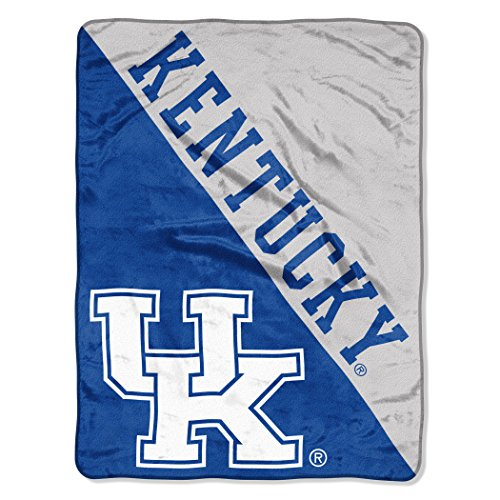 The Northwest Company Officially Licensed NCAA Kentucky Wilcats Halftone Micro Raschel Throw Blanket, 46