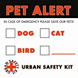 Pet Emergency Alert, 2 Exterior Stickers (Weatherproof), My Pet Supplies