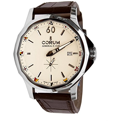 Corum Men's Admiral's Cup Legend 42mm Brown Leather Band Steel Case Automatic Watch 395.101.20/0F02 AA20
