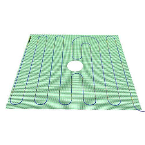 Warmly Yours 48 by 48-Inch Tempzone Shower Mat, Twin by WarmlyYours