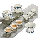Product review for JKCOM Chinese KungFu Tea Set Ceramic/Porcelain Tea Service Handmade Teapot China Tea Cup translucent