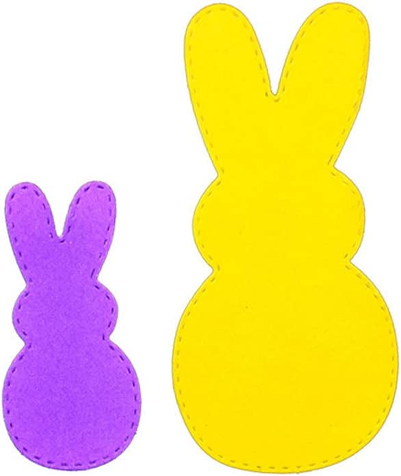 Easter Bunny Cutting Dies Stencil Metal Template for Scrapbooking Album Paper Craft Decor Duoyuanersty Cutting Dies for Card Making