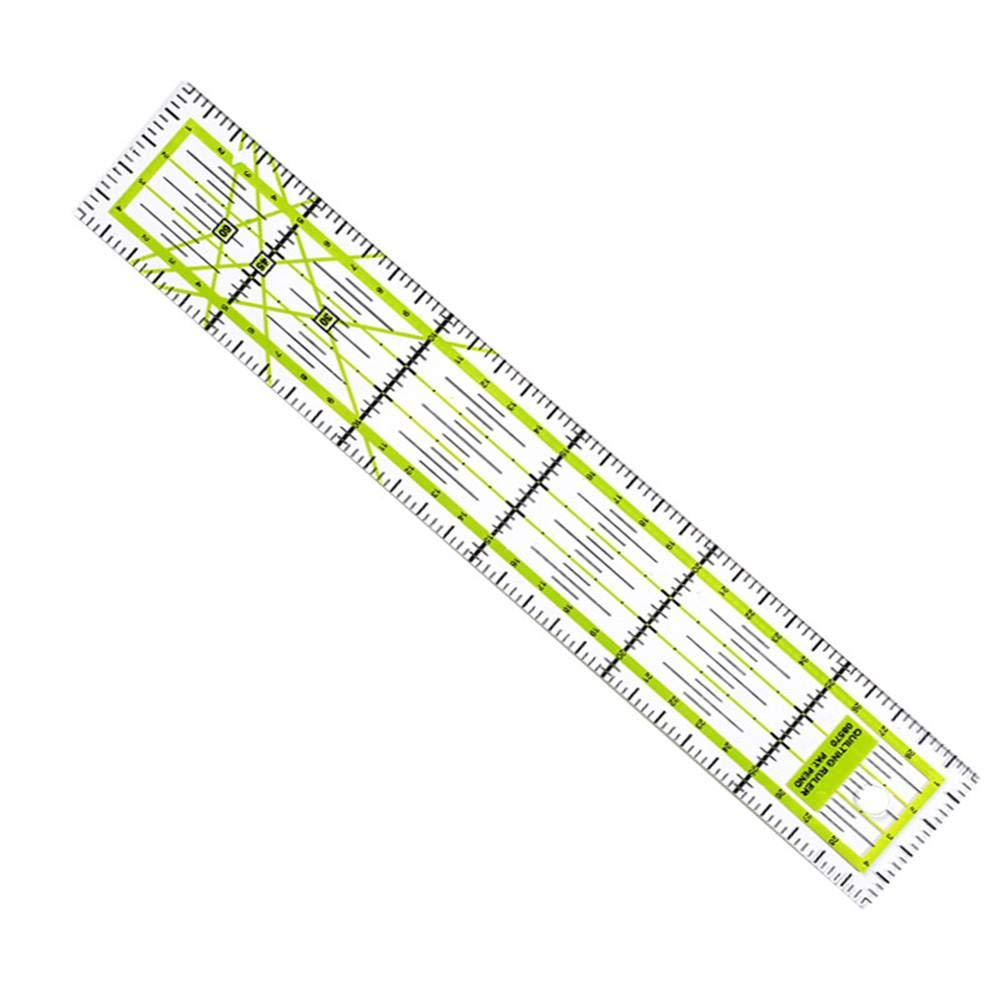 211.8inch Quilting Ruler sewing ruler Laser Cut Acrylic Quilters Ruler With Patented Double Colored Grid Lines For Easy Precision Cutting Suits Quilting Sewing /& Crafts Lime Green