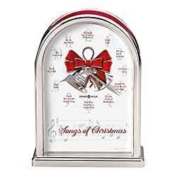 Howard Miller Songs of Christmas Table Clock 645-820 - Holiday Carol Musical Chimes
