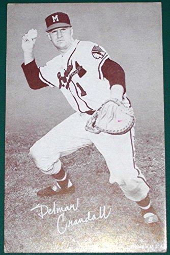 1947-66 Exhibits Arcade BB-Delmar Crandall- Milwaukee Braves- Blank (Exhibit Arcade)