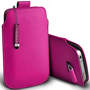 Shelfone Stylish Protective Leather Pull Tab Skin Case Cover For Samsung S5610 L Includes Stylus Pen Hot Pink