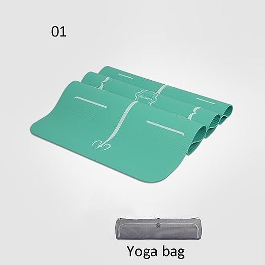 OIBHFO Home Alfombra de Yoga para Principiantes, más Gruesa ...