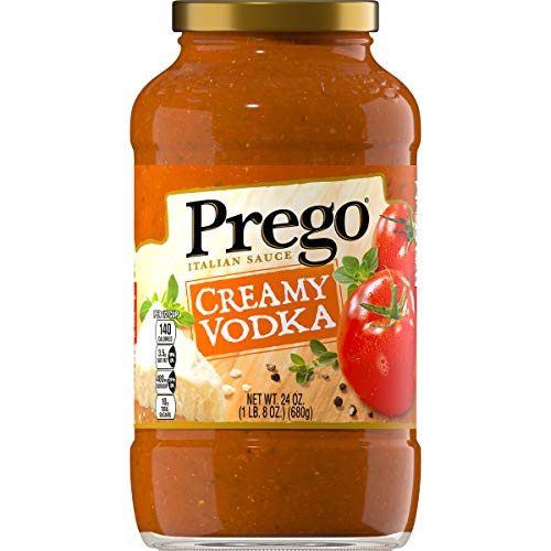 - Prego Pasta Creamy Vodka Sauce, 24 Ounce (Pack of 6)