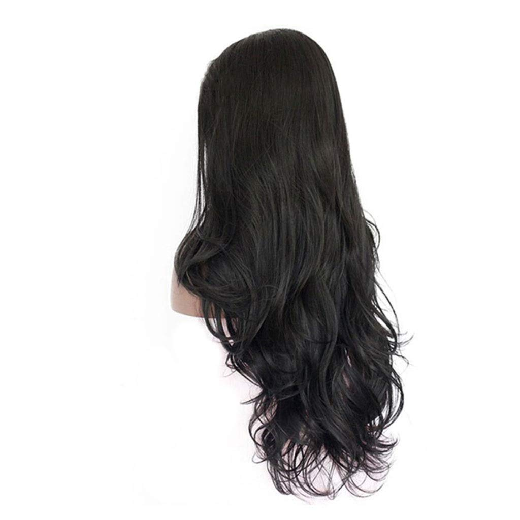 LF stores-wigs Wig Women's 26inch Long Natural Black Wave Wig Ms. Cosplay Free Wig Cap