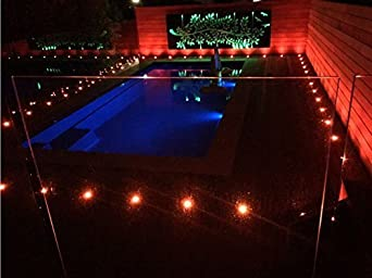 Cool White Led Decking Lights Waterproof IP67 1W /Ø45MM Lighting for Terrace//Patio//Path//Wall//Garden//Decoration