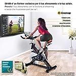 Sportstech-SX400-Cyclette-Professionale-Marchio-di-qualita-Tedesco-Eventi-Video-e-Multiplayer-App-Peso-di-inerzia-22-kg-Ergometro-con-Trasmissione-a-Cinghia-silenziosa150-kg-Max-E-Book-Gratis