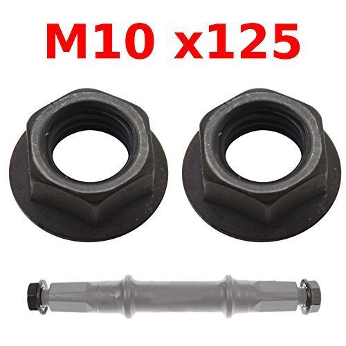 Bicycle Axle Nuts (PAIR OF CRANK ARM NUT M10x125 BIKE AXLE COTTERLESS BOTTOM SQUARE BRACKET VINTAGE)
