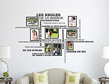 Sticker mural les regles de la maison ventana blog - Cadre les regles de la maison ...