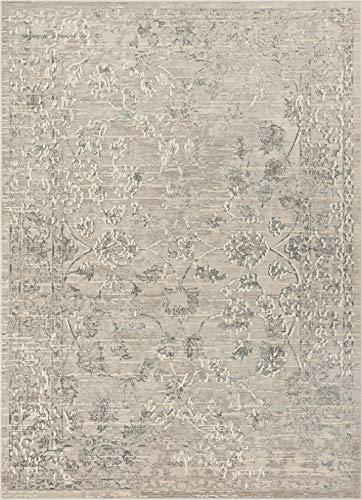 Well Woven Lena Vintage Beige & Grey Distressed Oriental Area Rug 5x7 (5'3