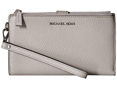 Michael Kors Adele Double Zip Wristlet - Pearl Grey