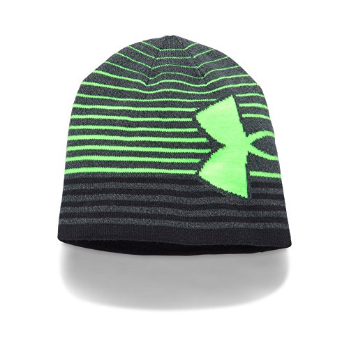 Under Armour Boys' Billboard 2.0 Beanie, Anthracite /Quirky Lime, One Size