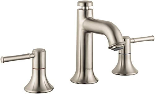 hansgrohe Talis C Classic Premium Easy Clean 2-Handle 3 6-inch Tall Bathroom Sink Faucet in Brushed Nickel, 14113821