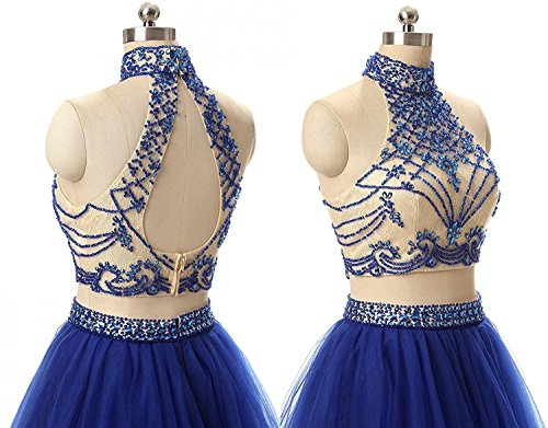 JYDress - Vestido - trapecio - para mujer Champange
