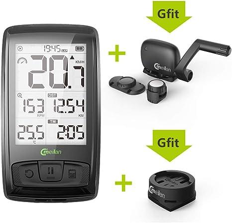Wisdomx Bluetooth inalámbrico Bicicleta Cuentakilómetros ...