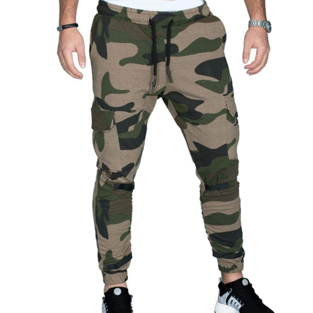 Realdo Hot!Clearance Sale Fashion Men Tight Beam Foot Drawstring Sports Slacks Casual Elastic Pockets Trousers(XXX-Large,Army Green) by Realdo (Image #1)