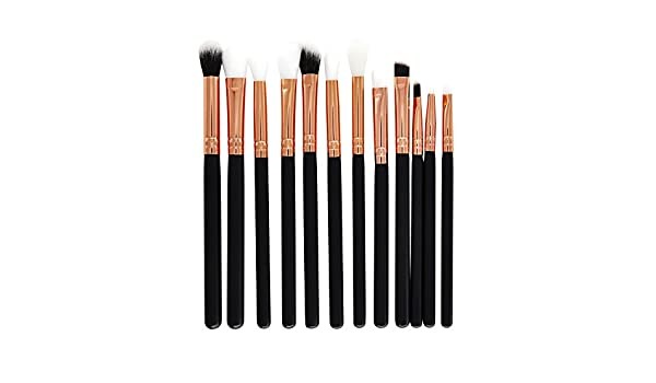 Cocoty-store 2019 Juego de brochas de maquillaje 12 piezas maquillaje profesional cepillo Fundación mezcla cara de ojos Corrector Líquido Maquillaje, polvos, crema (B): Amazon.es: Belleza