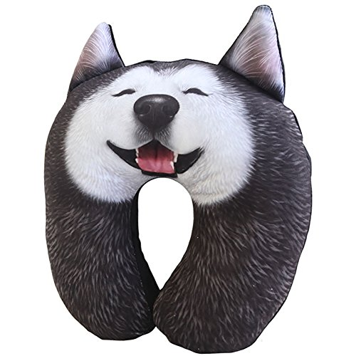Neck Pillows Cute Dog Cervical U-Pillow Memory Pillow For Ai