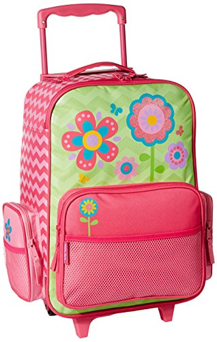 Stephen Joseph Girls' Little Classic Rolling Luggage, Flower- Chevron, 14.5x8.5x18 ()