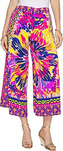 Lilly Pulitzer Women's Lisbeth Crop Multi Summer Sunset Engineered Pants by Lilly Pulitzer