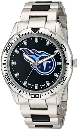 Tennessee Titans Silver Metal (Game Time Men's 'Heavy Hitter'  Metal and Alloy Quartz Analog  Watch, Color:Silver-Toned (Model: NFL-HH-TEN))