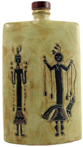 Mara Ceramic Stoneware 44 Oz. Yei Figures Rectangular Decanter