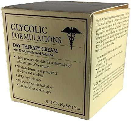 Glycolic Formulations Day Therapy Cream with 15% Clycolic Acid Solution