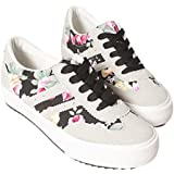 Generic Women's Flat Canvas Printed Floral Casual Shoes