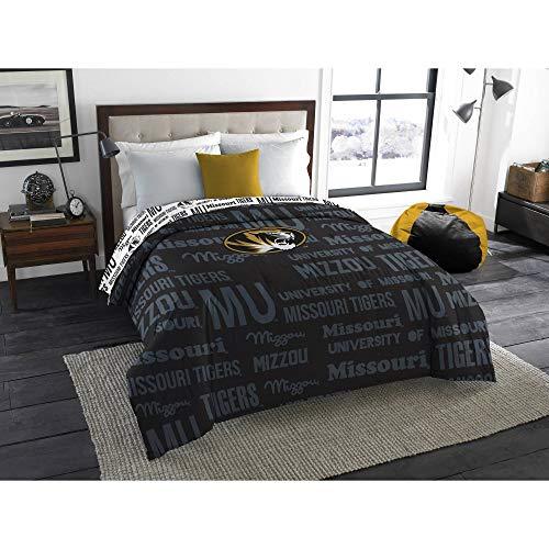 Northwest NCAA Missouri Tigers 5pc Bedding Set: Includes (1) Twin/Full Comforter, (2) Throws, (2) Throw Pillows