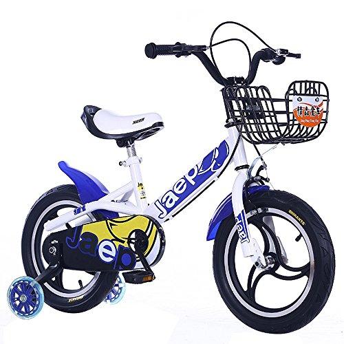 Chariot bébé à une roue, vélo pour enfant, roulette auxiliaire flash enfant ( Couleur : Bleu , taille : 115cm )