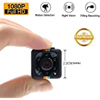 HD Super mini Camera LXMIMI Portable Small Nanny Cam with Night Vision and Motion Detection Security Camera for Home and Office Surveillance