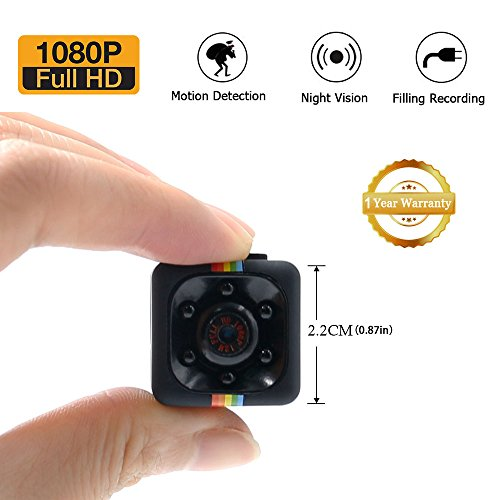 1080P Mini Spy Cam Hidden Camera LXMIMI Portable HD Nanny We