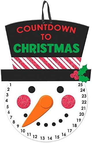 241299 Holiday Decoration TradeMart Inc Amscan Countdown to Christmas Hanging Sign
