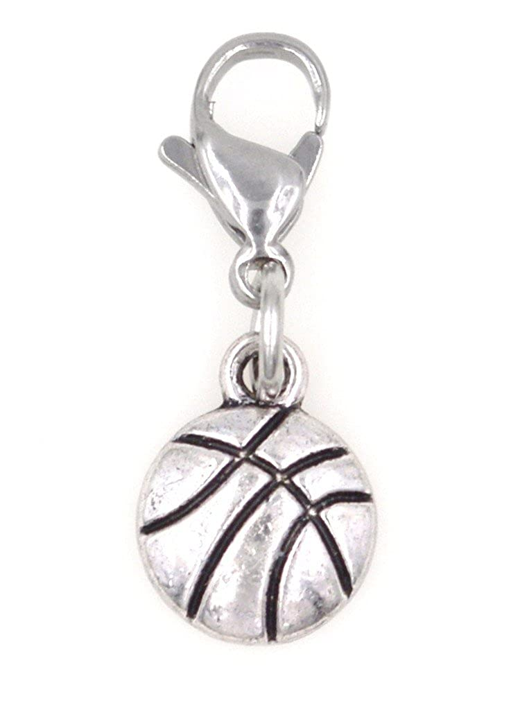 It's All About...You! Mini Basketball Sports Stainless Steel Clasp Clip on Charm SSCL 81Aj It' s All About You Jewelry AAYJ-SSCLBU91/SSCL81Aj