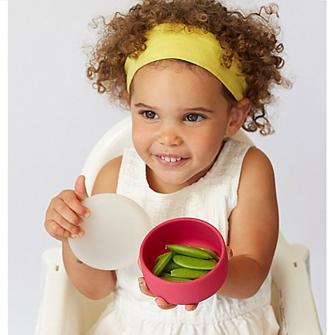 Modern Twist 4.85 oz. Silicone Bowl with Lid in Pink (3 Packs) by Generic (Image #1)