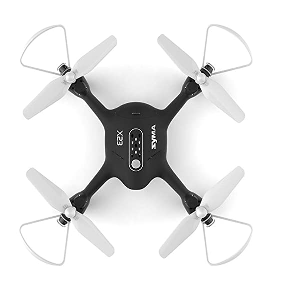 Kiditos Syma X23 Drone without Camera 4CH 6-Axis Gyro Altitude Hold 3D Flips One Key Take-Off/Landing Headless Mode RC Quadcopter with 2 Battery for Beginners (Black)