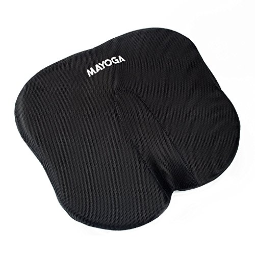 Seat Cushion, MAYOGA Coccyx Orthopedic Memory Foam Cushion Chair Car Seat Cushion Lumbar Support Pillow Office Chair Pad with Breathable Washable Cover for Back Tailbone Sciatica Pain Relief Comfort by MAYOGA