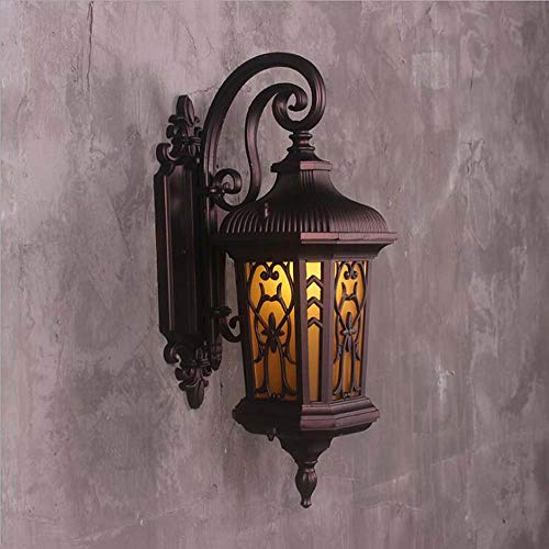 ChuanHan Wall Lights for Outdoor, European Style Antique Waterproof Iron Wall Lamp, Corridor Aisle Balcony Decorative Wall Sconces, E27, Max40W
