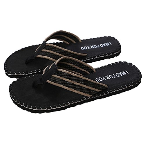 Hot Sale!Todaies,Men Summer Round Toe Shoes Rome Style Sandals Male Slipper Indoor Or Outdoor Beach Flip Flops (US 9.5, Black) Today Sale