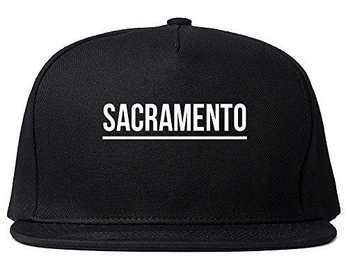 (Kings Of NY City Of Sacramento Simple Underline Snapback Hat Cap Black)